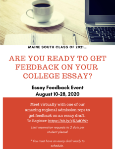 Essay Feedback Event 2020